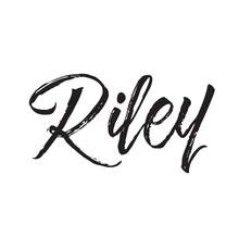 Riley, Text Design. Vector Cal...