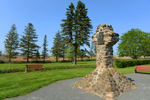 Herbin Cross Was Elected In 1917 In Grand-Pré National Historic Site, Wolfville, Nova Scotia, Canada. Now This Site Is A UNESCO World Heritage Site.