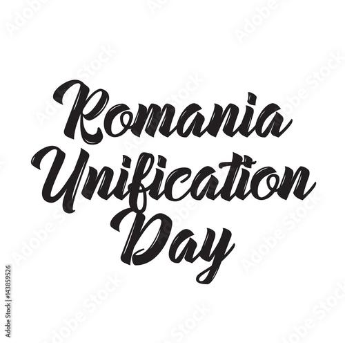 Fotografie, Obraz  romania unification day, text design