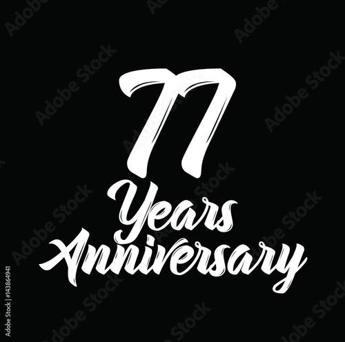 Fotografie, Obraz  77 years anniversary, text design