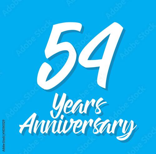 Fotografia  54 years anniversary, text design