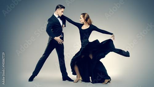 Küchenrückwand aus Glas mit Foto Tanzschule dancers performing tango