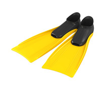 Yellow Flippers Isolated