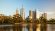 Melbourne City Skyline Timelapse view of the skyline from Southbank in 4K