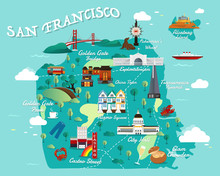 Map Of San Francisco Attractio...
