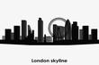 London skyline vector silhouette. Black and white cityscape.