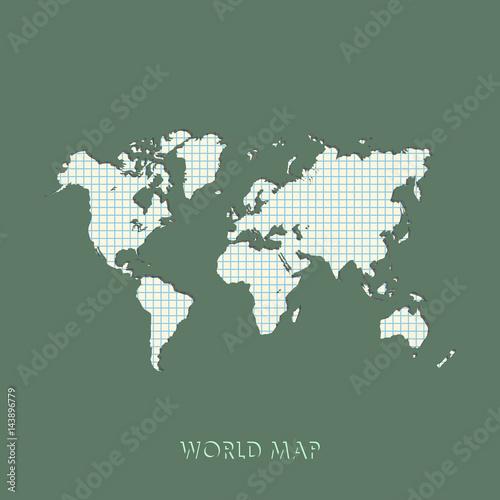 World map vector illustration mercator projection worldmap buy world map vector illustration mercator projection worldmap gumiabroncs Images
