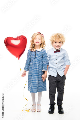 Photo  Kids with heart shaped balloon