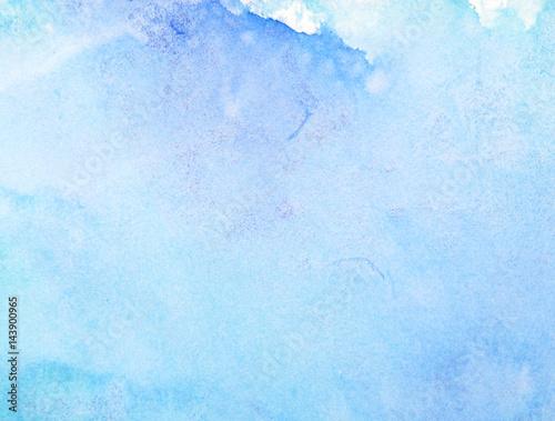 Zdjęcie XXL niebieski papier akwarelowy