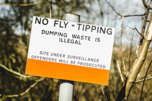 Warning Fly Tipping Sign
