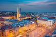 Zagreb. Cityscape image of Zagreb, Croatia during twilight blue hour.