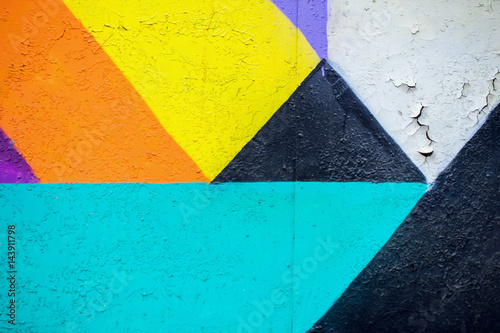 Graffity wall. Abstract detal of Urban street art design close-up. Modern iconic urban culture. Aerosol pictures. Can be useful for backgrounds. - 143911798