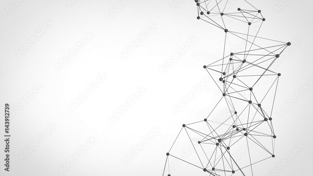 Fototapeta Abstract technology futuristic network - plexus background