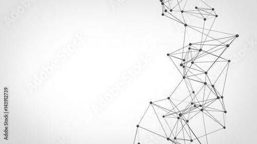 Abstract technology futuristic network - plexus background