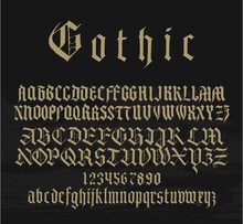 Medieval Gothic Font With Capi...