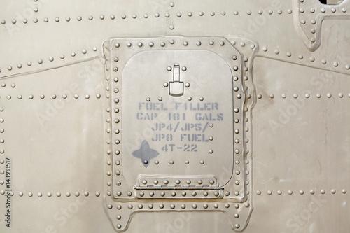 Fotografie, Obraz  metal surface of military aircraft