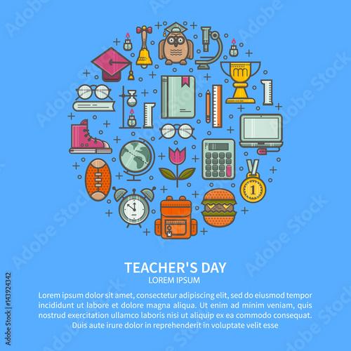 Fotografia  Teacher appreciation illustration