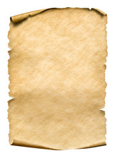 Old Paper Manusript Or Parchment Vertically Oriented