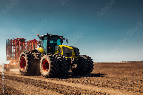 Preparing land for next seasion Canvas Print