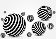 Black And White Striped Balls