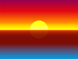 Illustration of a colorful, luminous, glowing, gorgeous ocean sunset - gradient vector background.
