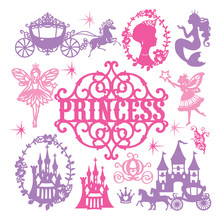 Vintage Paper Cut Princess Theme Set