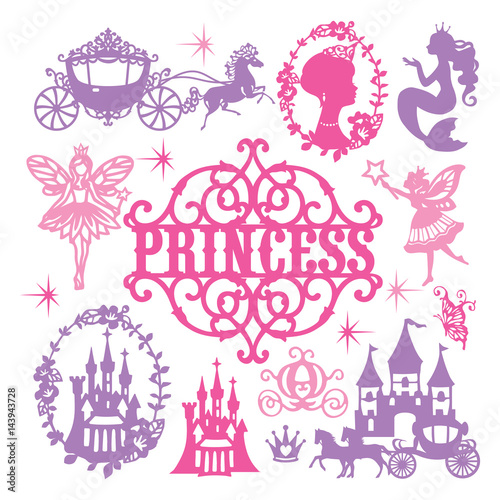 Zestaw motywów Vintage Paper Cut Princess