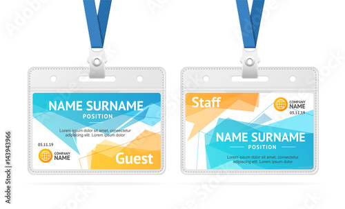 Id Card Template Plastic Badge. Vector - Buy this stock vector and ...