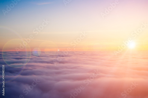 Canvas Prints Heaven Sunset clouds from above