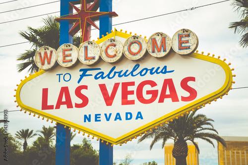 Poster Las Vegas Welcome to Fabulous Las Vegas sign, Las Vegas Strip, Nevada, USA
