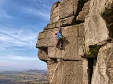 Rock Climbing On Gritstone UK