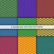 Seamless geometric patterns set. Vector Illustration.