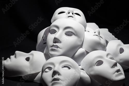 Fotografie, Obraz  White masks