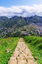 Walking Path Of Mountain Steps