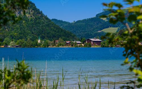 Plakat Letni krajobraz, Walchsee, Tirol, Austria