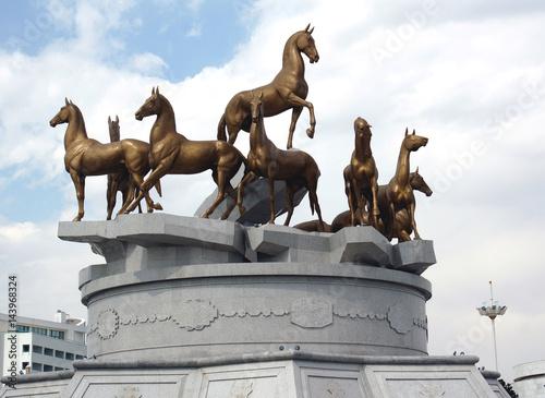 Photo Monument in the center of Ashgabat, Turkmenistan