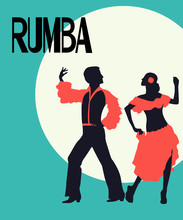 Rumba Dancers Card