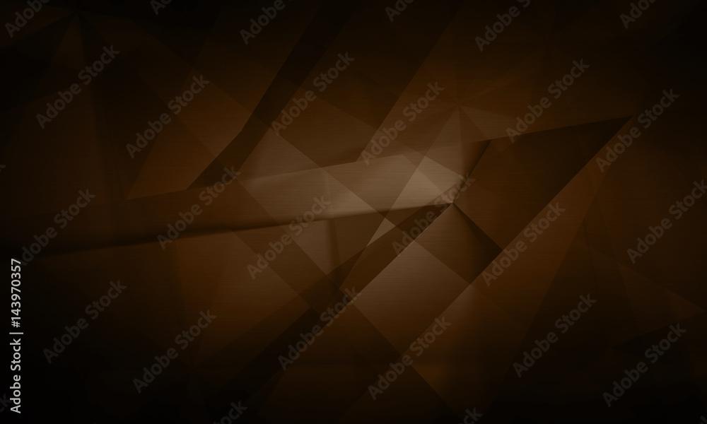 Fototapeta Abstract futuristic digital technology dark brown background illustration
