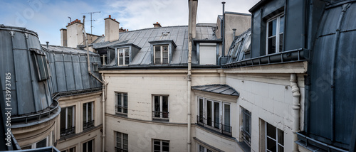 Photo sur Aluminium Paris gray Parisian rooftops
