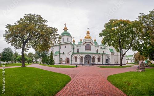 Photo Stands Kiev National Sanctuary Sophia of Kiev panoramic square, Ukraine