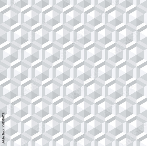 bezszwowy-bialy-3d-szesciokata-wzor