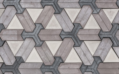 Panel Szklany Mosaic pattern, geometric abstraction, classic tile