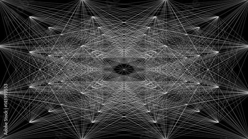 ilustracja-trojwymiarowa-polaczona-abstrakcyjna-struktura