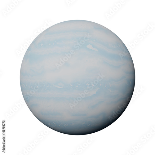 Photo  planet Uranus isolated on white background