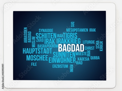 Bagdad Billede på lærred