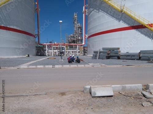 Foto op Plexiglas a large tank in the industry