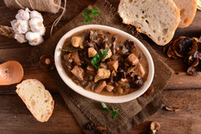 Stew With Meat, Mushrooms And ...