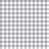 Seamless Grey Gingham Fabric Textile Pattern - 144004765