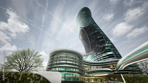 Exterior Curved Luxury Hote...