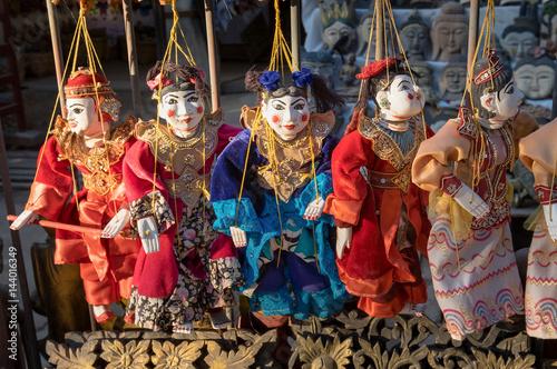 Garden Poster Fairytale World Traditional handicraft puppets souvenir in Mandalay, Myanmar